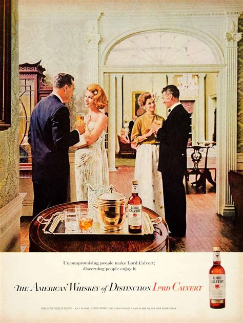 1962 Ad Vintage Lord Calvert American Whiskey Whisky 60s