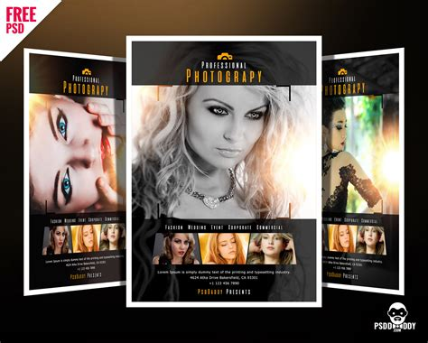 downloadprofessional photography flyer psd psddaddycom