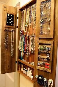 organic wall jewelry organizer With meuble bijoux