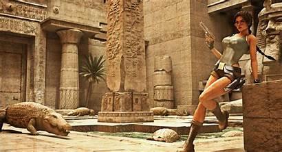 Tomb Croft Raider Lara Egypt Crocodile Glasses