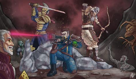 Fallout New Vegas Lonesome Road Wallpaper Skyrim X Fallout X Morrowind By Devolist On Deviantart