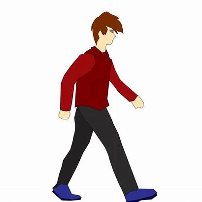 Walking Walk Animation Character Cycle Cartoon Clipart