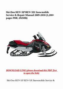 Ski Doo Rev Xp Rev Xr Snowmobile Service  U0026 Repair Manual