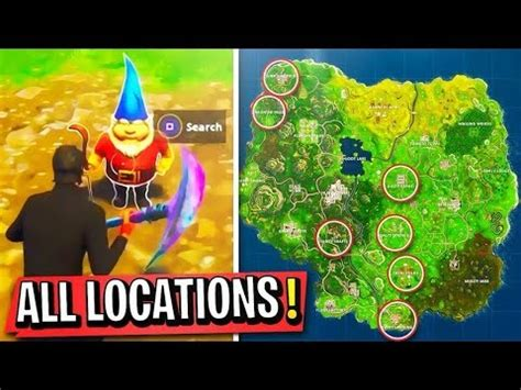 "All Fortnite ""search The Hidden Gnome In Different Name"