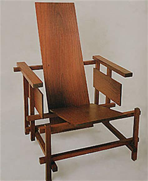 la chaise de rietveld la chaise et bleue de gerrit rietveld