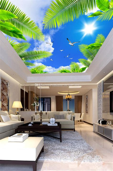 blue sky wall mural custom  wallpaper  walls natural