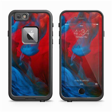 awesome blue atlantis iphone 6s fierce and cool blue smoke skin for the iphone 6s plus