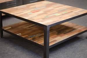 Table Basse Carrée 100x100 : achat table basse industrielle carr e table basse en ~ Teatrodelosmanantiales.com Idées de Décoration