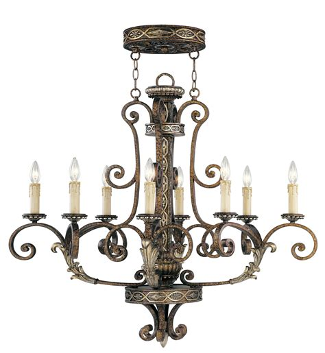 livex lighting seville oval chandelier palacial bronze