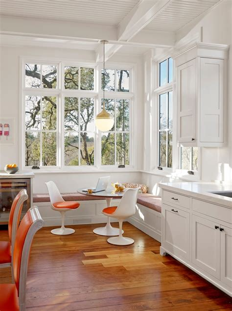 stunningly cool breakfast nook benches    awe