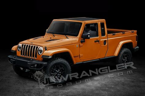 jeep truck 2018 will the jeep wrangler pickup look like this motor trend