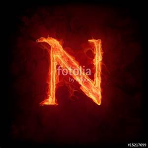 """Fire letter N"" Stock photo and royalty-free images on ..."