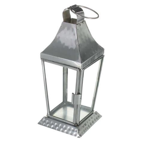 hammered tealight holder lantern hanging outdoor