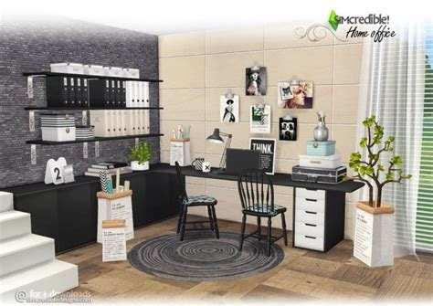 simcredible designs  home office set sims  compilation