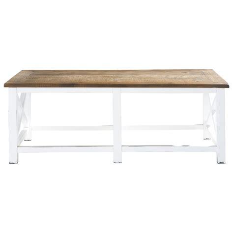 table basse en bois recycl 233 l 120 cm sologne maisons du monde
