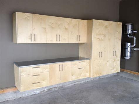 garage cabinets real birch plywood locally   black