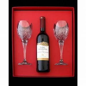 Melissa set - 2 red wine glasses and bottle of red wine in ...