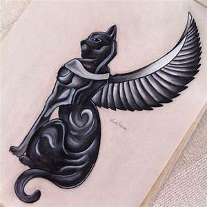 Egyptian Cat Tattoo Design