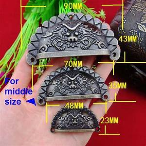 Dragon Head Shell Shaped Antique Door Cabinet Drawer Box