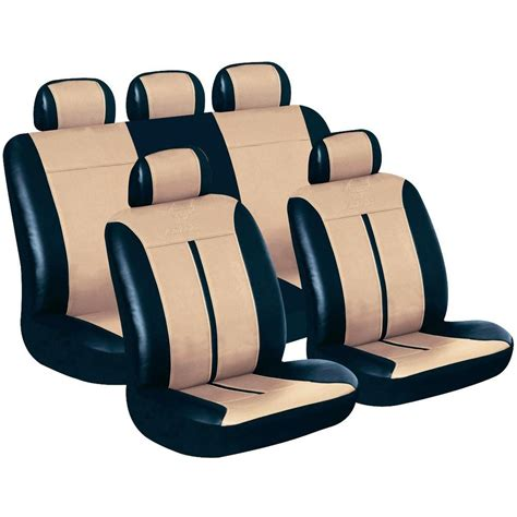 siege auto conducteur housse de siège 11 pièces eufab 28289 cuir synthétique