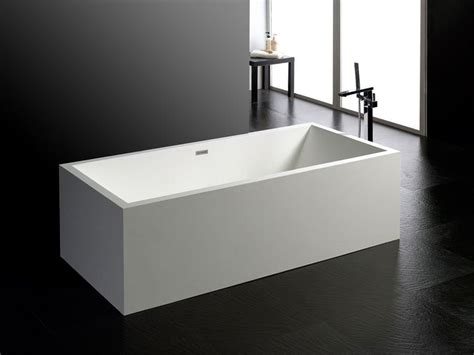 Freistehende Badewanne Milano Aus Mineralguss  Weiß Matt