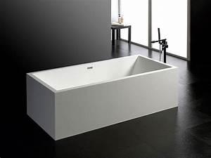 Frei Stehende Badewanne : freistehende badewanne milano aus mineralguss wei matt oder gl nzend 190x90x60 eckig ~ Udekor.club Haus und Dekorationen
