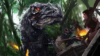 Mech Dinosaur Robot Sci Fi Wallpapers Background