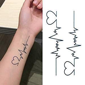 oottati small cute temporary tattoo heartbeat wrist set