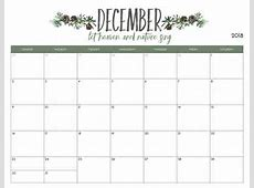 Printable Calendar Template December 2019 Business Plan