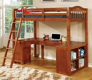 Twin, Bunk, Bed, With, Desk, Underneath