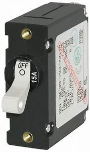 A-series White Toggle Circuit Breaker
