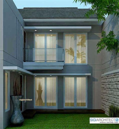desain rumah minimalis  lantai bagian belakang gambar
