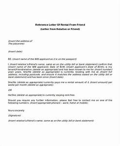 9 rental reference letter template free word pdf With character reference template for renting