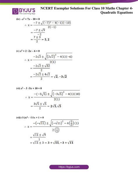 ncert exemplar class  maths solutions chapter