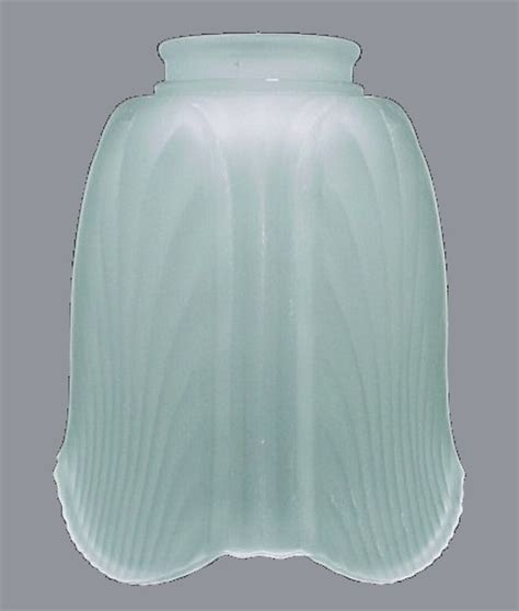 light shade 2 1 4 in frosted glass petal bell wall sconce