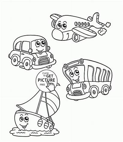 Transportation Coloring Pages Printables Funny Transport Colouring
