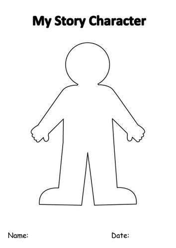 create a character template by enp10 teaching resources