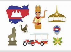 Flache KambodschaVektoren Kostenlose VektorKunst