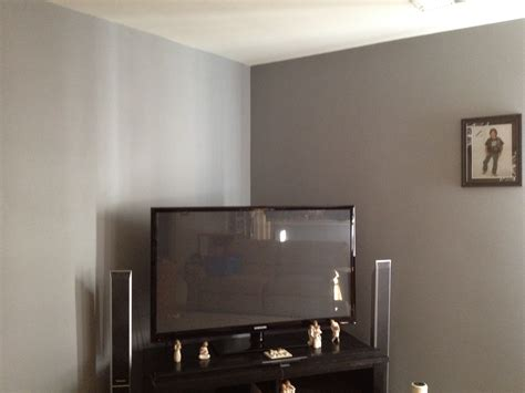 paint wall the desired color flat chose granite grey