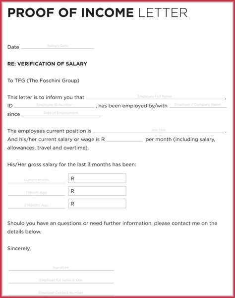 proof of income for self employed template proof of income letter 20 sles formats in pdf word