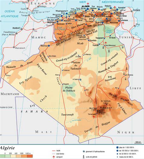 Carte Algerie Villes by Carte D Alg 233 Rie Carte 2018