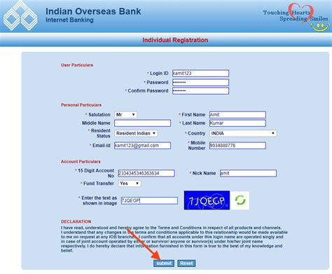 login account mobile number how to register for iob net banking
