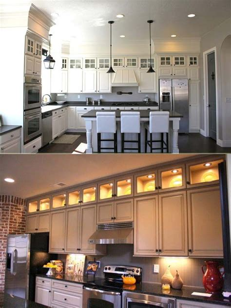 Decorating Ideas For Kitchen Cabinets by 20 Stylish And Budget Friendly Ways To Decorate Above