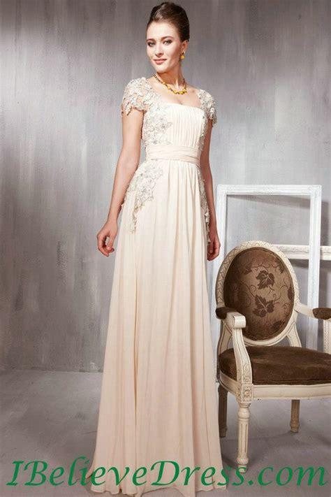 Cool Evening Dresses plus size Chiffon Lace Cap Sleeves ...