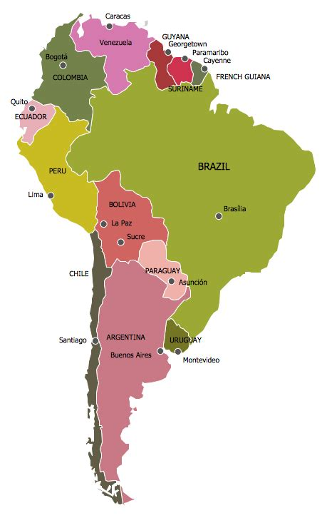 south america map maps continent maps south america