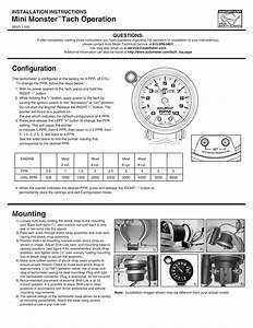 Mini Monster Tach Operation Installation Instructions