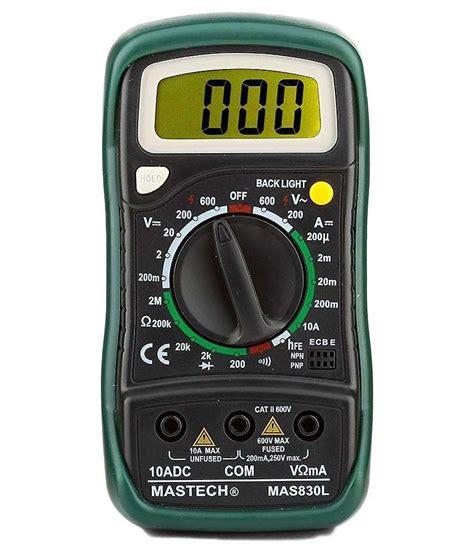 mastech masl green digital multimeter  probes buy