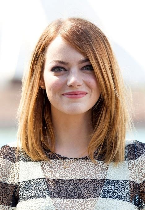 long bob hairstyle   faces emma stone hairstyles