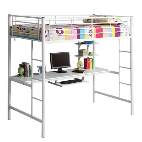 bunk bed with computer desk twin loft bed with desk