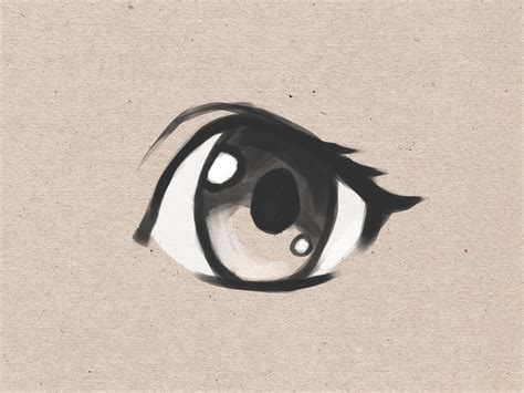 draw simple anime eyes  steps  pictures